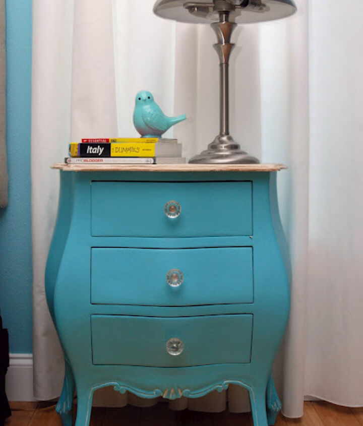 Antique Nightstand Revamp  You can find the full tutorial here: http://sewwoodsy.com/2012/05/antique-nightstand-revamp.html