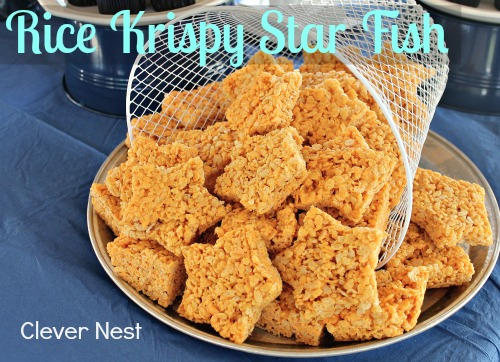 Rice Krispy Starfish how to: http://www.myclevernest.com/2012/09/andrews-first-birthday-vintage-nautical.html