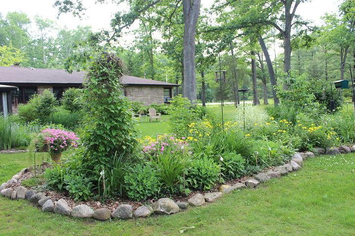 a june garden stroll thru the small house garden, flowers, gardening, hydrangea, landscape, outdoor living, patriotic decor ideas, perennial, seasonal holiday decor