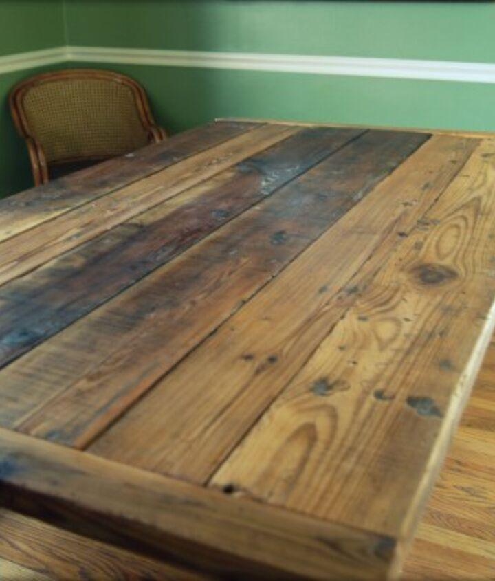 Barn wood table top made with Kreg Jig