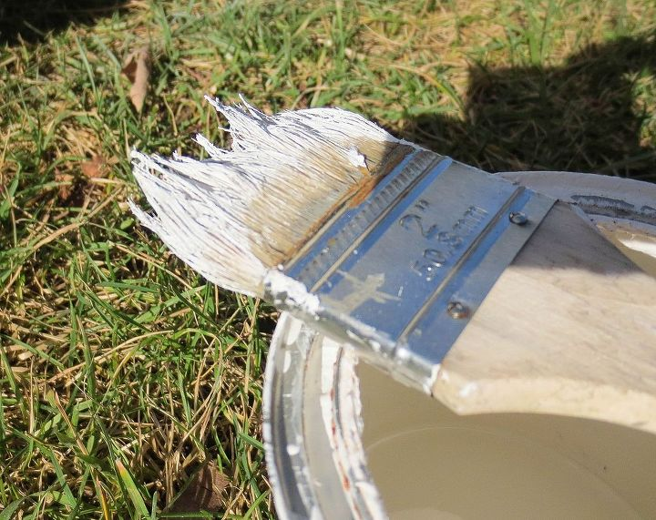 """Dry brush with an inexpensive paint brush and a different color such as white by lightly coating the surface with """"feather strokes"""". http://downtoearthstyle.blogspot.com/2013/12/primp-my-primer-distressing-techniques.html"""