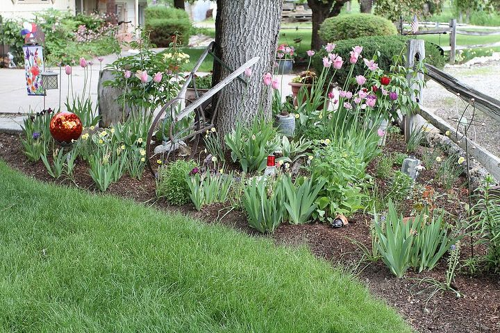 One of the 1st flower beds.  Is a corner bed next to driveway.