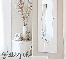 Turn A Cheap Door Mirror Into A Shabby Chic Dream, Diy, Home Decor,