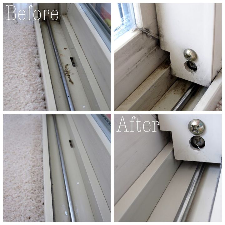 how to clean windows window sills and window tracks, cleaning tips, windows