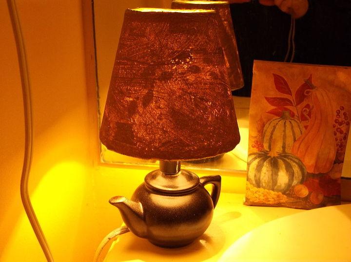 paper bag lamp shade, lighting