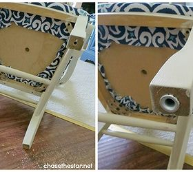 Turn An Ordinary Dining Chair Into A Desk Chair With Casters, Painted  Furniture, It Part 48