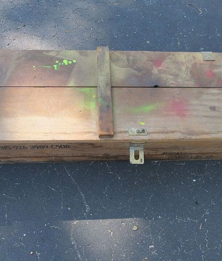 This box had seen better days.  I had to repair the hinges, and the clasp, plus remove a bunch of paint.