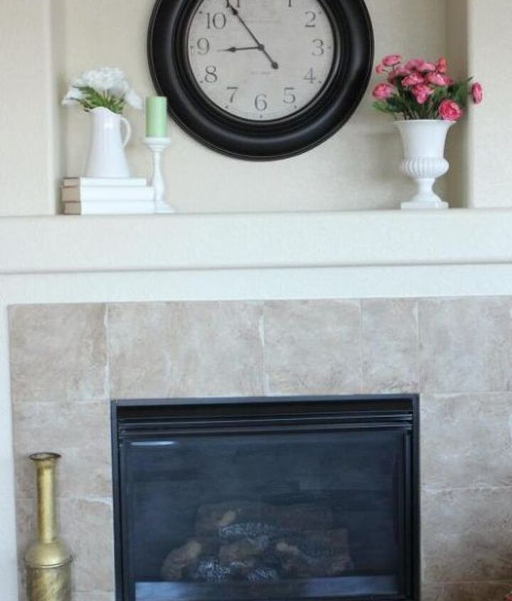 My simple yet welcoming mantel decor.