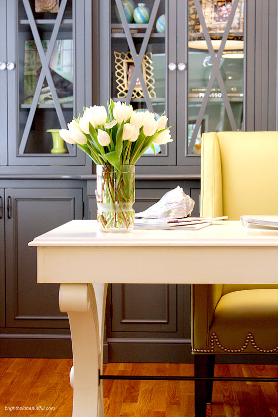 A Stylish Home Office Craft Rooms Decor Bedroom Turned