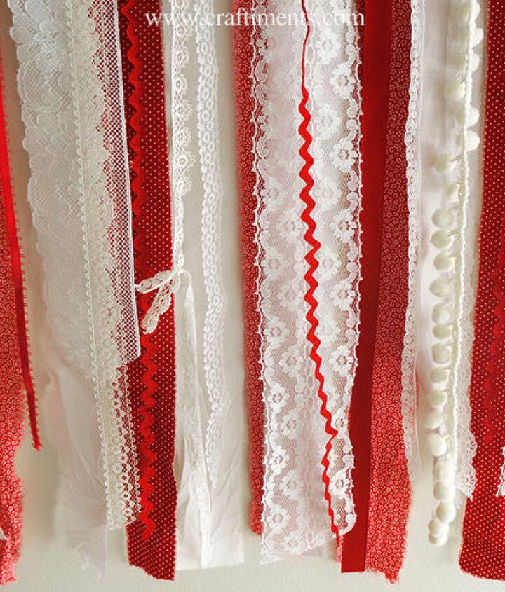 patriotic ribbon lace and fabric scrap flag, crafts, patriotic decor ideas, seasonal holiday decor