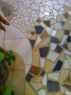 mosaic tile floor section by originals by rhonda on facebook, flooring, home decor, tile flooring, tiling