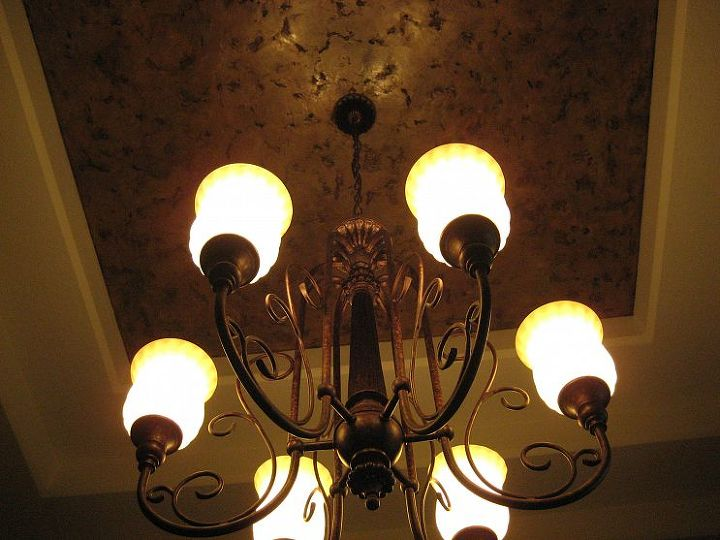 Italian Finishes - Dining Room Tray Ceiling
