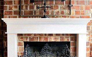 a mantel for the back porch fireplace, fireplaces mantels, porches, woodworking projects, After We made the screen several years ago using three decorative iron panels zip tied together
