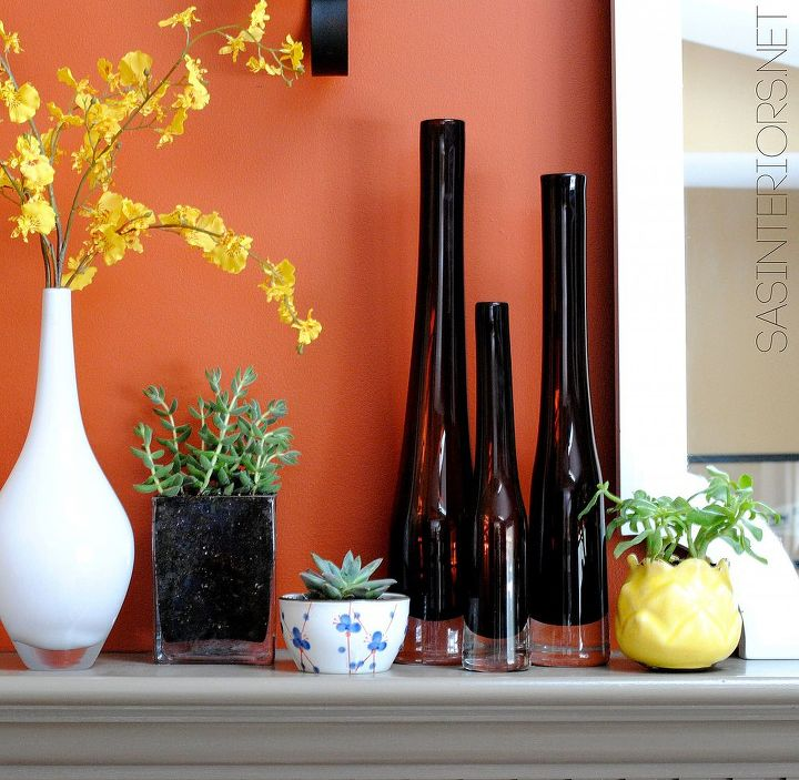 spring mantel with sensational succulents, flowers, gardening, seasonal holiday d cor, succulents