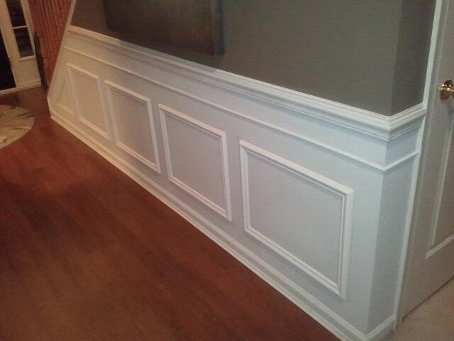 AFTER: Wainscoting