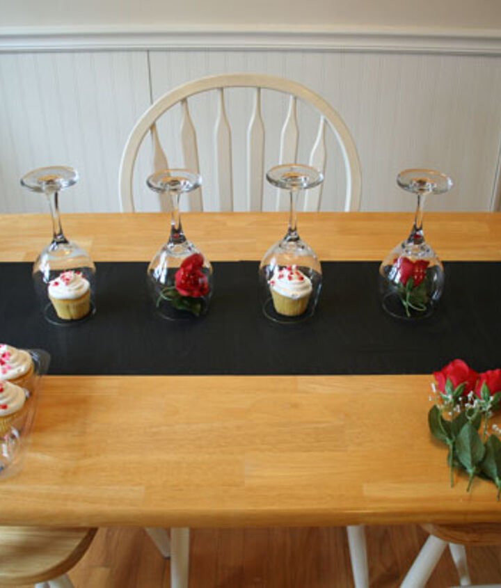 Arrange your wine glasses upside down the way you want.