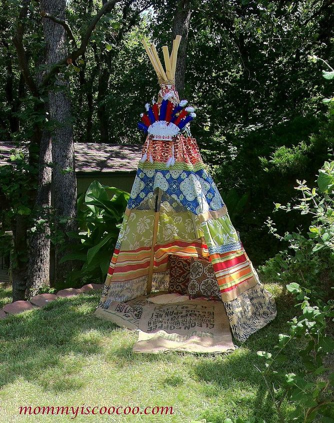 Collapsible Glue Gun Teepee with outdoor fabric