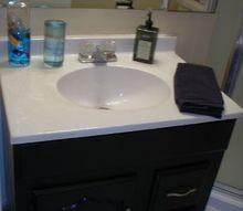 master bathroom paint hardware, bathroom ideas, diy, home decor, painting, After painted vanity