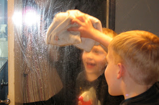 homemade glass cleaner, cleaning tips, Give your homemade window cleaner to Mr Messy and get him working