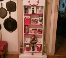 coca cola niche, painted furniture, shabby chic, storage ideas, One of A Kind Coca Cola Cabinet