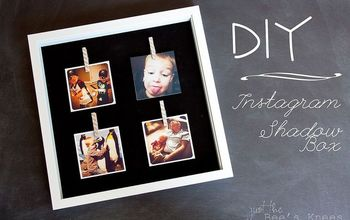 create a shadowbox for your instagram photos, crafts
