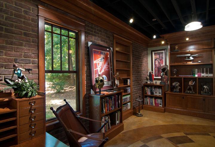 design studio, basement ideas, concrete masonry