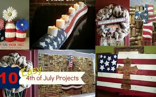 10 easy 4th of july projects, crafts, patriotic decor ideas, seasonal holiday decor, wreaths