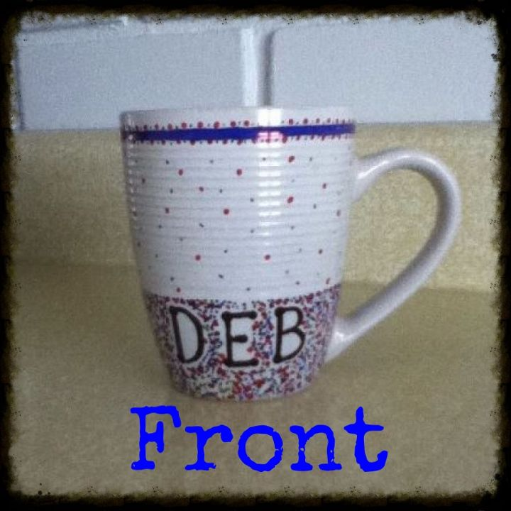 sharpie project, crafts, I thought that I would personalize my coffee mug