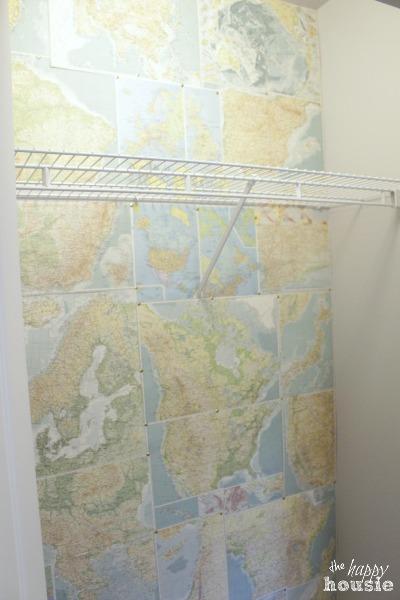 diy faux map wallpaper, diy, wall decor