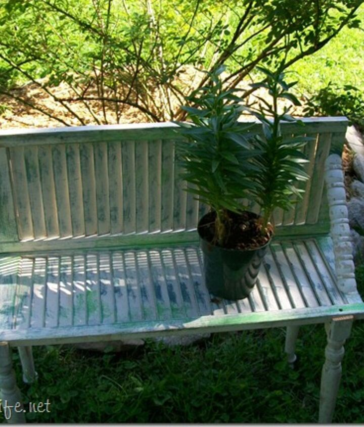 i shutter to think about my stash of junk, diy, painted furniture, repurposing upcycling