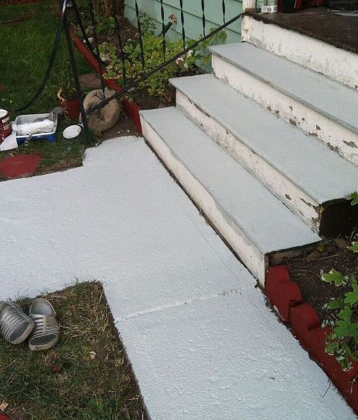 I even painted the steps with this paint. this paint is a heavier paint the other paints I think it has sand mixed in to it.