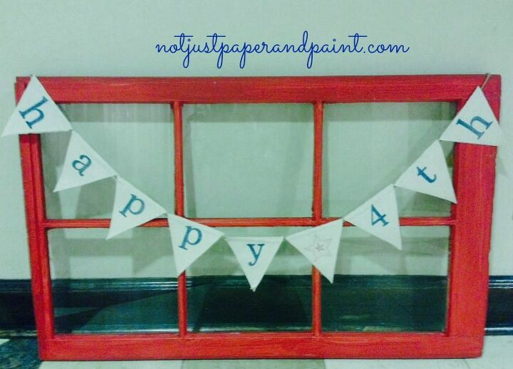 stamped custom banners, crafts, patriotic decor ideas, seasonal holiday decor