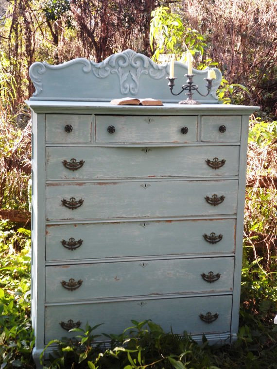 frozen inspired, painted furniture