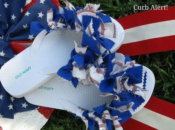4bdf5fd3e Patriotic Flip Flops  out of Fabric Scraps