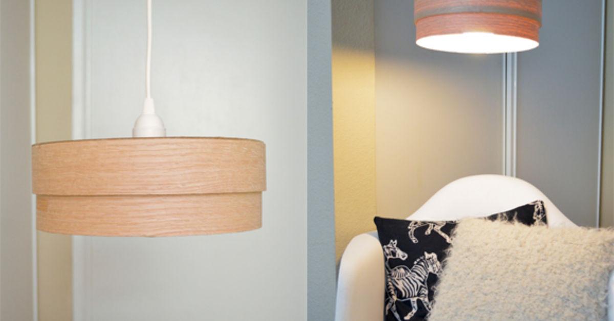 Make this DIY wood veneer light pendant! | Hometalk