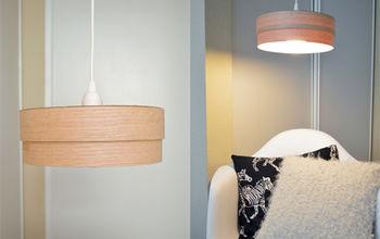 Make this DIY wood veneer light pendant!
