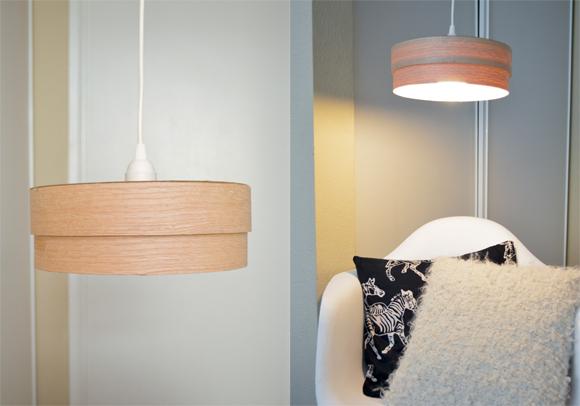 make this diy wood veneer light pendant, crafts, lighting