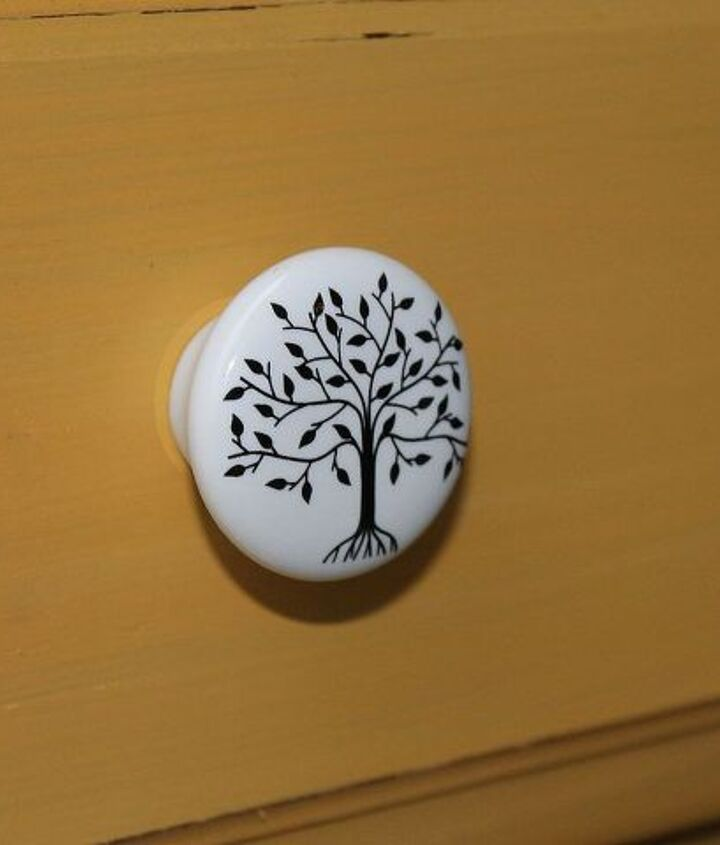 the knobs I was dying to use. You all know how much I love trees!