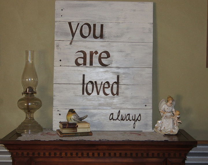sign made from old wood, home decor, painting, repurposing upcycling