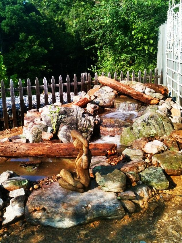 build a pondless day seminar 8 2 12, outdoor living, ponds water features, Finished project done in 5 hours with 14 people