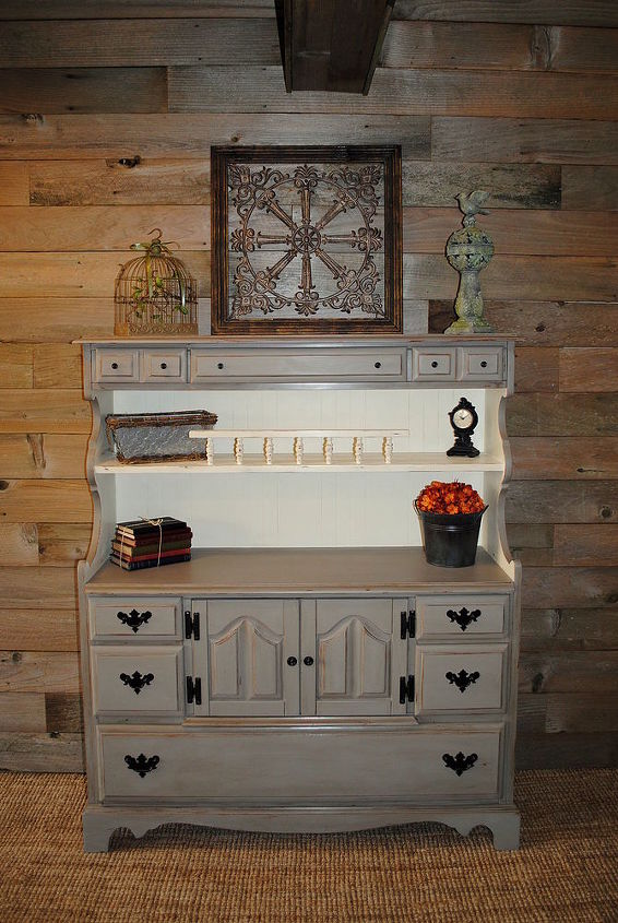 small hutch makeover, painted furniture, rustic furniture