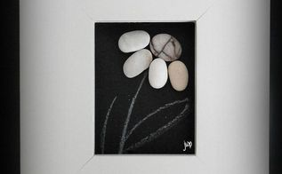 make your own pebble art frame, crafts