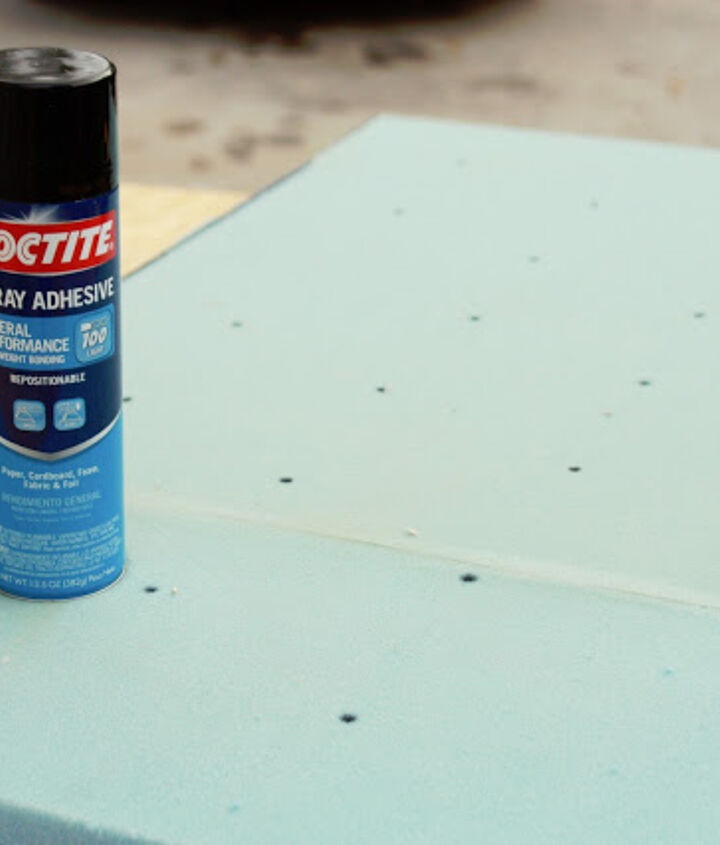 a little spray adhesive to make things stick...
