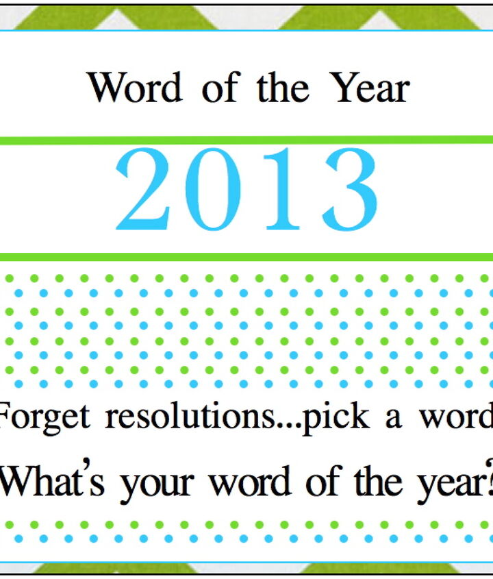do you have a word for 2013