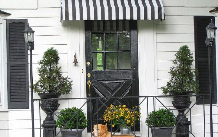 exclusive stripe home x fabrics striped black panel awning blackout garden pair and product inch curtain white