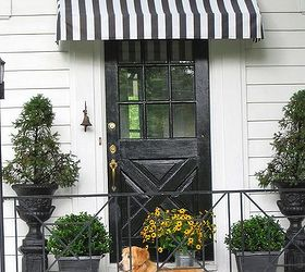 Beau Diy Striped Awning, Curb Appeal, Diy, How To, DIY Black And White. DIY  Black And White Striped Awning Above Our Front Door