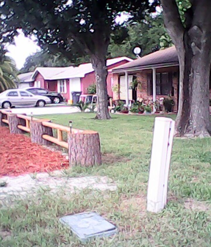 fence made from pine tree, curb appeal, diy, fences, repurposing upcycling, woodworking projects