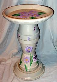 it is just a terra cotta pot ummmmm no it is a birdbath, crafts, repurposing upcycling, Another great find for family involvement