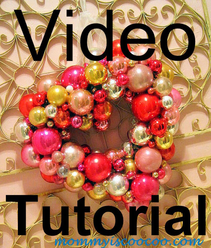 I've made my first DIY video.  Watch my video to learn how to make a Valentine Ornament Wreath
