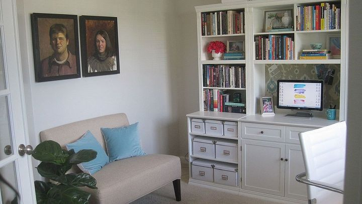 home office makeover diy x base desk, craft rooms, home decor, home office, painted furniture